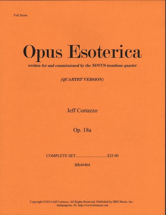 Opus Esoterica Op  18a