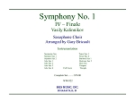 Symphony No. 1, Finale for Saxophone Choir