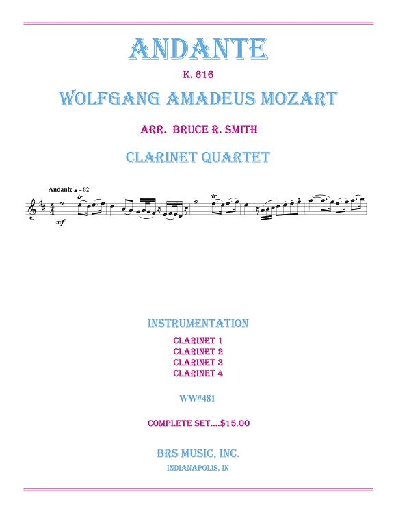 Andante, K  616 (Clarinet Quartet)