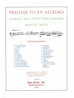 Prelude To An Allegro for Clarinet and Concert Band