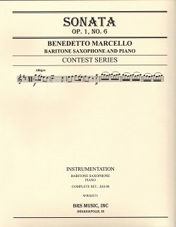 Sonata Op. 1 No. 6 for Baritone Saxophone and Piano