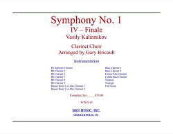 Symphony No. 1, Finale for Clarinet Choir