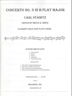 Concerto No. 3 in B Flat Major for Clarinet and Flute Choir