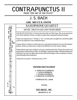 Contrapunctus No. 2 For Saxophone Quartet