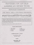 Fantasia on an Old American Hymn Tune